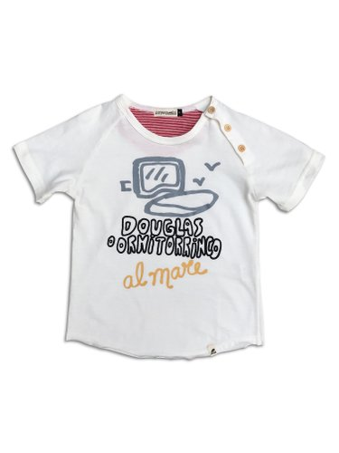 Camiseta Douglas Al Mare Mini Branco Off
