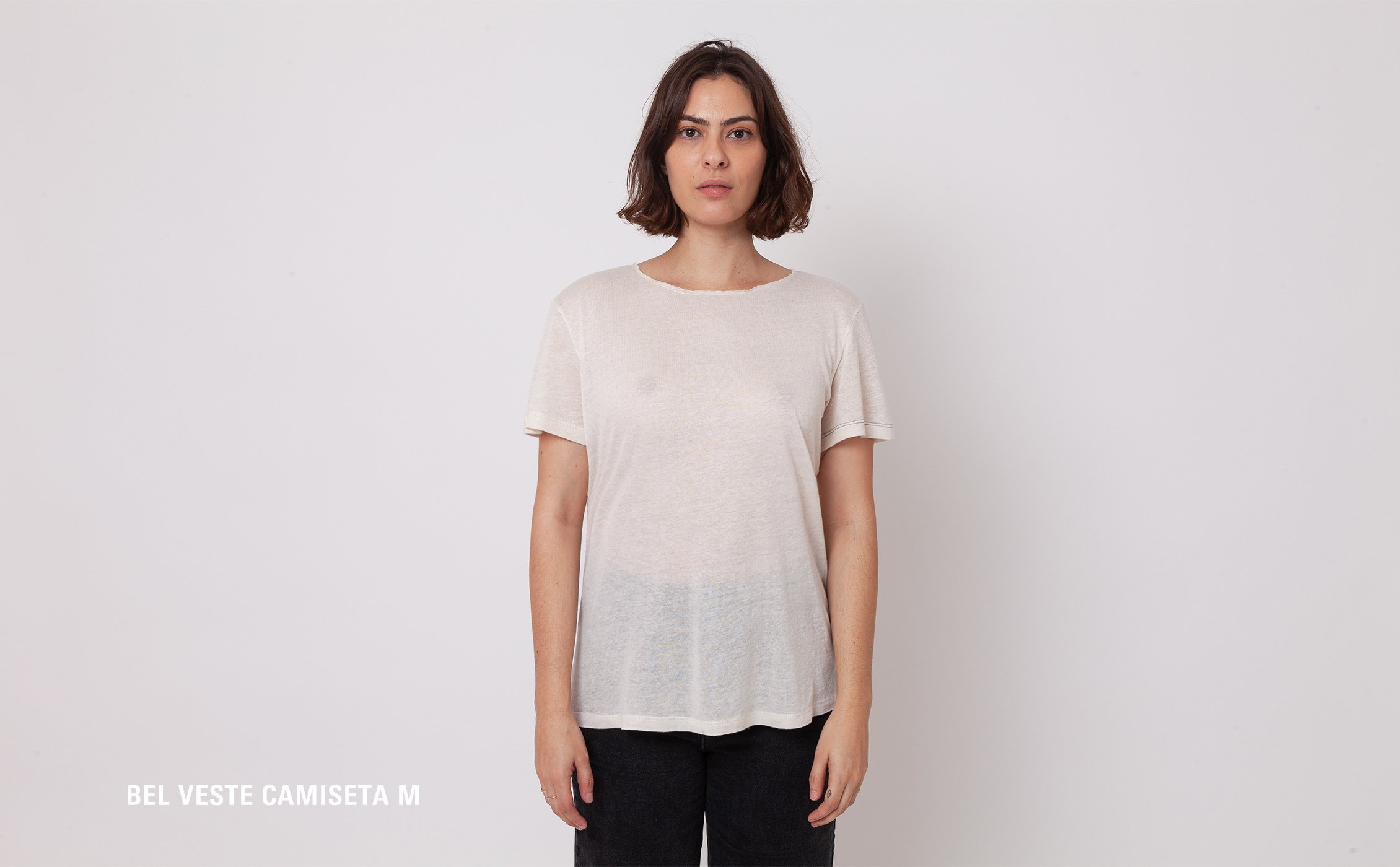 Camiseta Manga Curta | Agnes Off White